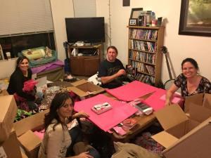 Clockwise: David, me, Janel, and Sheri