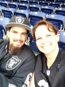 Me and Kyle at the Raiders game 10/25/2015